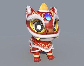 Dancing Chinese dragon 3D asset