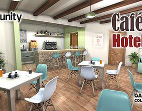 Hotel Cafe 3D asset