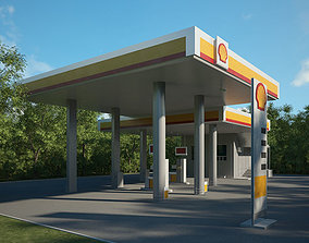 3D model Shell gas station 001