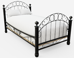 3D asset game-ready Wrought Iron Bed
