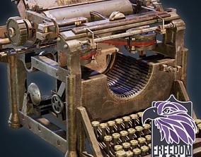 VR / AR ready Underwood Typewritter - Game-Ready Model