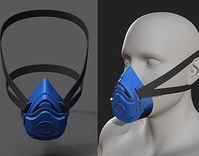Gas mask helmet safety plastic mask protection 3D asset