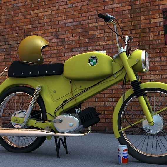A model of a Puch Moped.