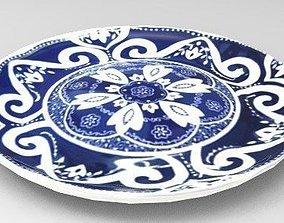 3D model Chinese porcelain dish