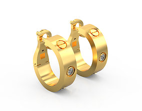 3D printable model Cartier Love Earrings
