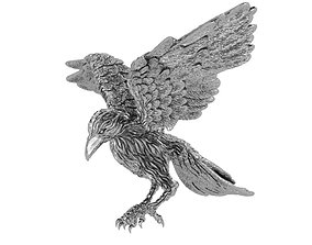 3D printable model Attack crow expand the wings