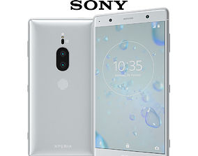 3D model Sony Xperia XZ2 Premium silver