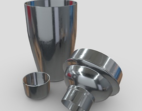 3D asset Cocktail Shaker Open