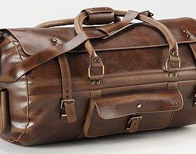 3D Roosevelt Buffalo Leather Travel Duffle Bag