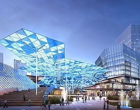 3D detail City Shopping Mall