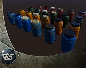 3D asset PBR Rainwater Barrels