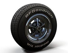 Muscle car wheel duster 3D