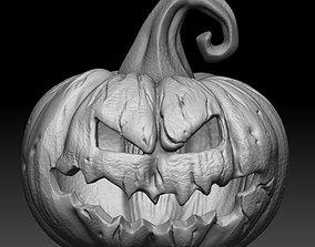 zbrush 3D model Halloween pumpkin