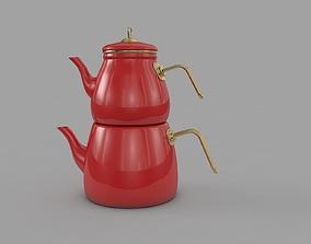 cookware Teapot Enamel Classical 3D model