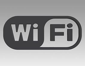 3D Wifi wireless internet logo symbol