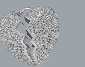 3D printable model jewel heart