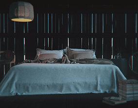 3D model Rustic Barn Bedroom Interior Lust