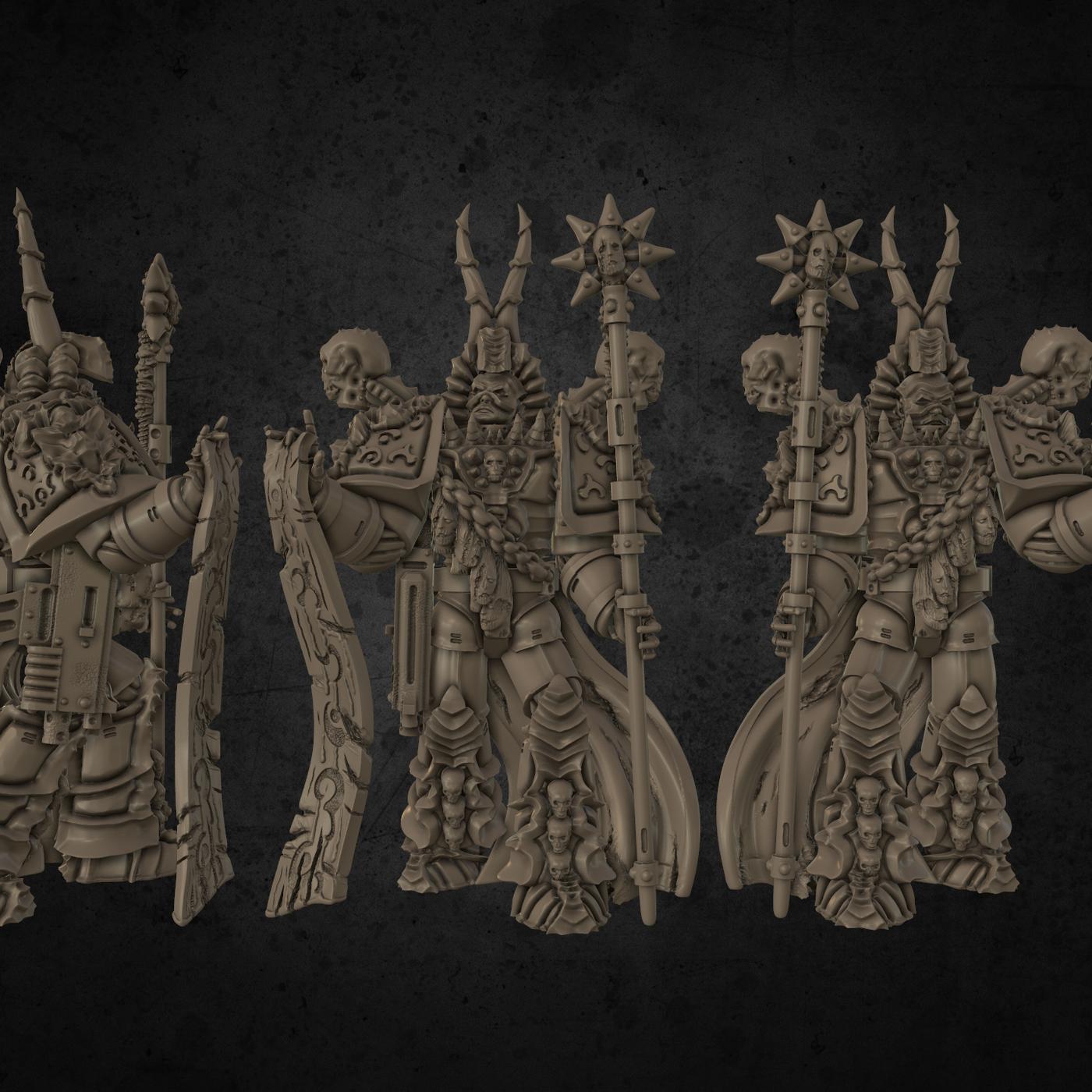 Chaos Sorcerer Printable Miniature Showcase