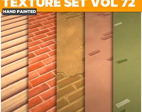 3D asset Walls Vol 72 - Game PBR Textures
