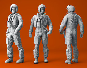 Pilot RAF Tornado Figure model for 3D print army