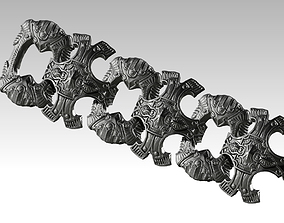 3D print model Best Cool High detailed Carved Bracelet 2