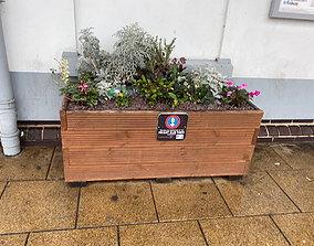 Model Railway Wooden Flower Trough Planter diy