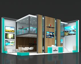 Exhibition Stand Stall 10x6m Height 500 cm 2 Side Open 3D