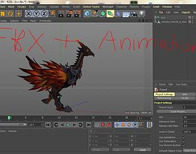 3d moduls Ostrich animation c4d fbx
