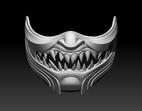 3D print model Scorpion mask for cosplay Mortal Kombat 3