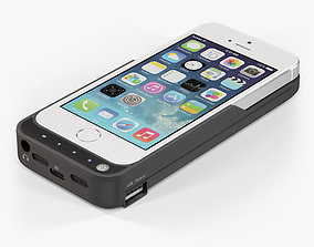 Apple iPhone 5S with Case DF 3D model