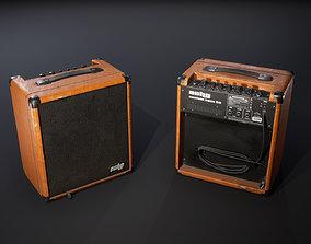 Bass guitar combo 3D model