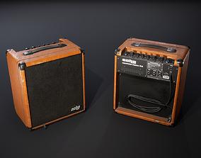 Bass guitar combo 3D asset