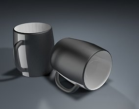 3D model Black mug