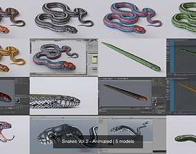 Snakes Vol 2 - Animated 3D