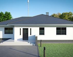 Single storey residental house 3D