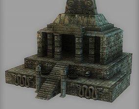 Low Poly Aztec Temple 3D asset