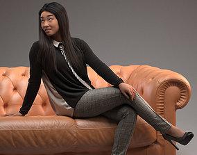 00036Esmee005 Lady Pre Posed 3D Model beautiful