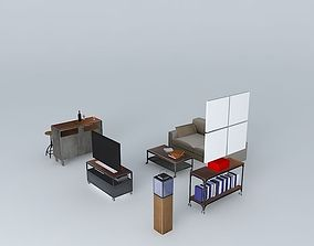 3D model The bar lounge Industry