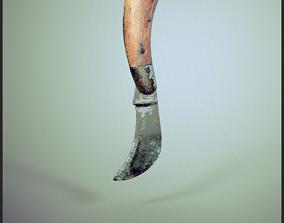 Old Curved Knife 3D