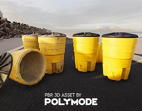 3D asset Sand Crash Barrel Game-ready