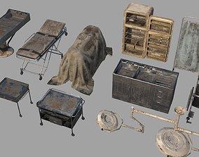 Horror Pathologist Room Set 3D model