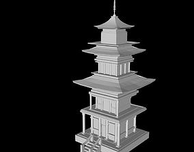 3D model VR / AR ready japanese house