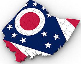Ohio Political Map 3D