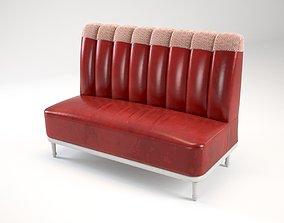 Red seat sofa 3D model