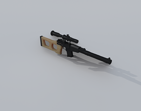 Lowpoly weapon model VR / AR ready