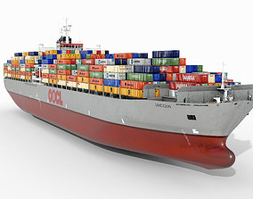 Container ship OOCL 3D asset