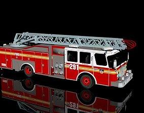 3D asset FDNY Firetruck