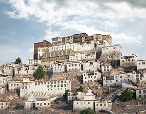 Ordinary Houses On A Mountain Scene 3D