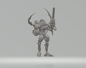 3D print model Mech Knight with Dual Autocannons