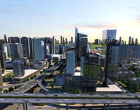 City scene 02 3D animated